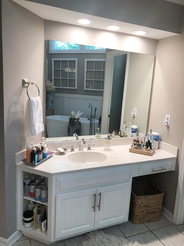 Diy Bathroom Mirror Update